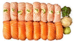salmon sushi setti